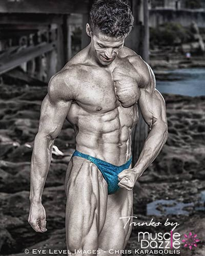 Turquoise Green Bodybuilding Posing Trunks