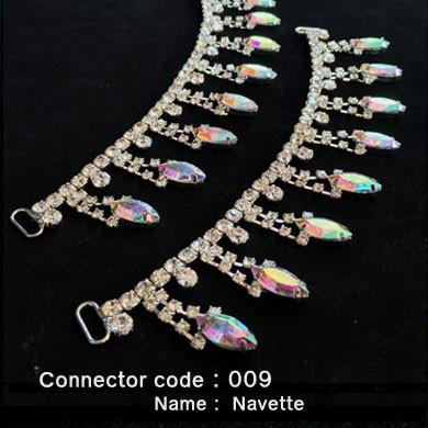 07d9889e737 Set of 2 x Rhinestone Bikini Connectors - Navette Style (009)
