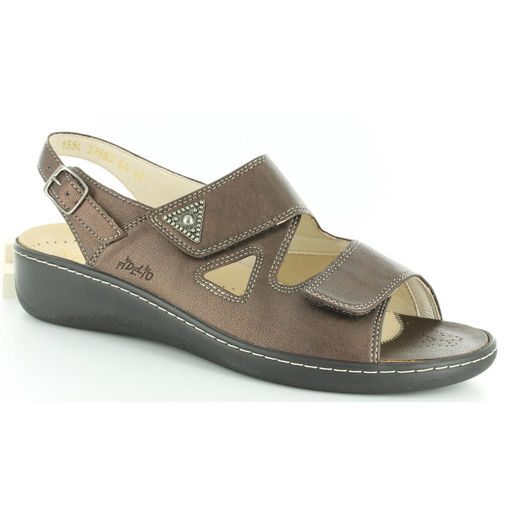 Fidelio Hallux Vienna2 Bunion Sandals Brown Metallic
