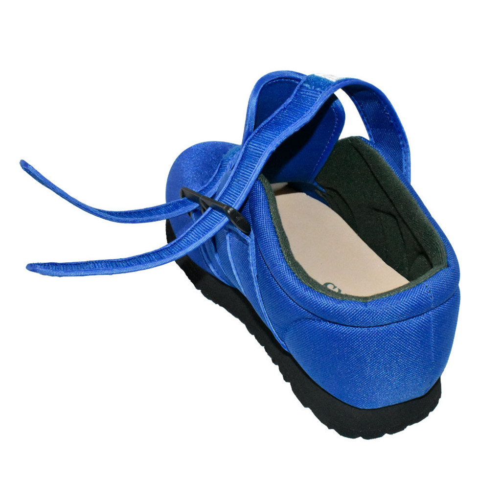 Pedors Classic MAX Stretch Shoes For Swollen Feet BLUE (MX602) - Rear Open