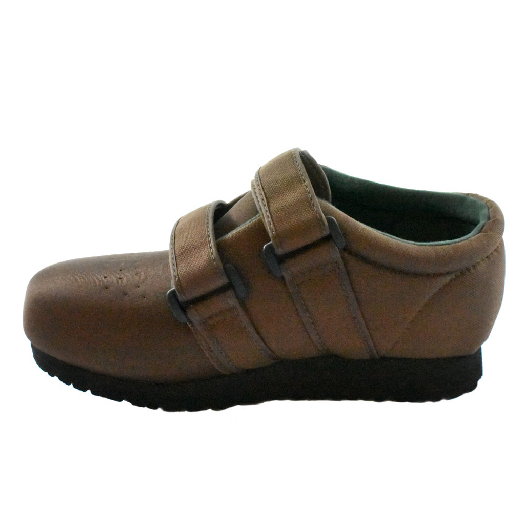 Pedors Classic MAX Stretch Shoes For Swollen Feet BROWN (MX605) - Instep View