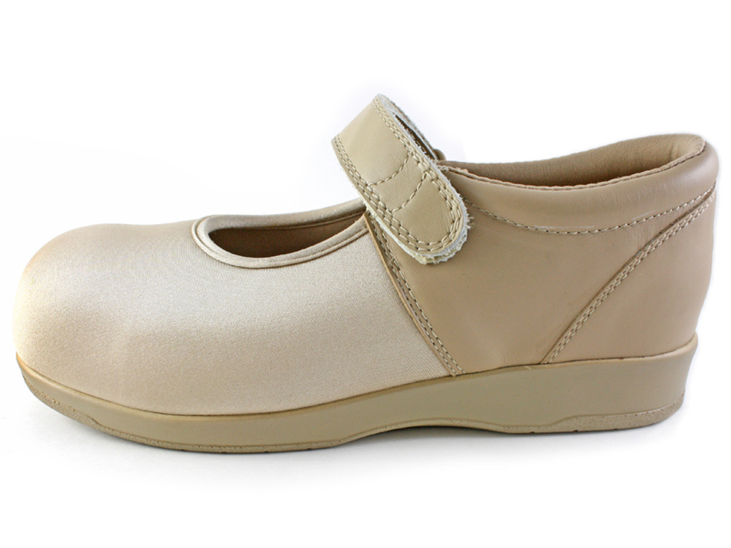 Pedors Mary Jane Beige Shoes For Hammertoes