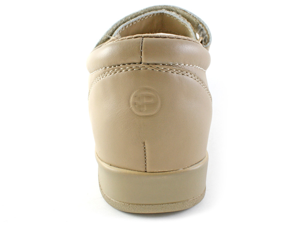 Pedors Mary Jane Beige Shoes For Cross Toes