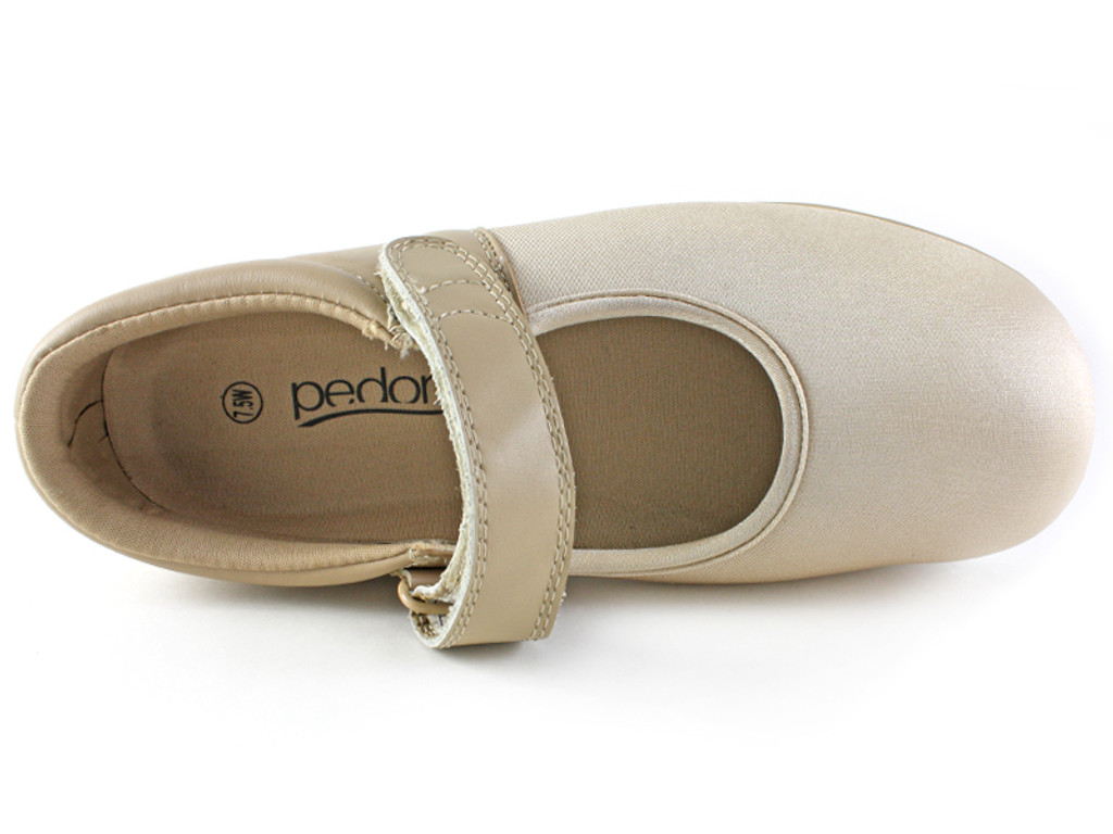Pedors Mary Jane Beige Shoes For Arthritis