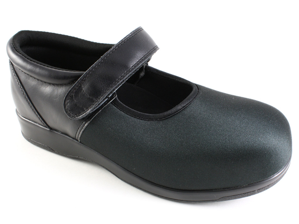 Pedors Mary Jane Black Shoes For Swollen Feet