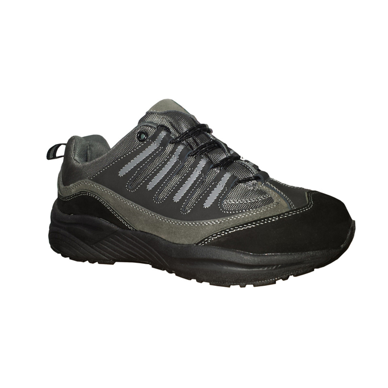 Men s Orthopedic Shoes For Hiking Black   Silver by Genext 495fa6572