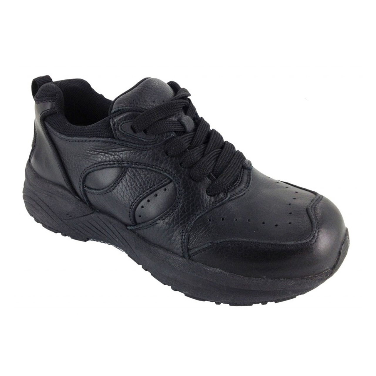 5dd93c29d5 Black Athletic Orthopedic Shoes With Laces For Men