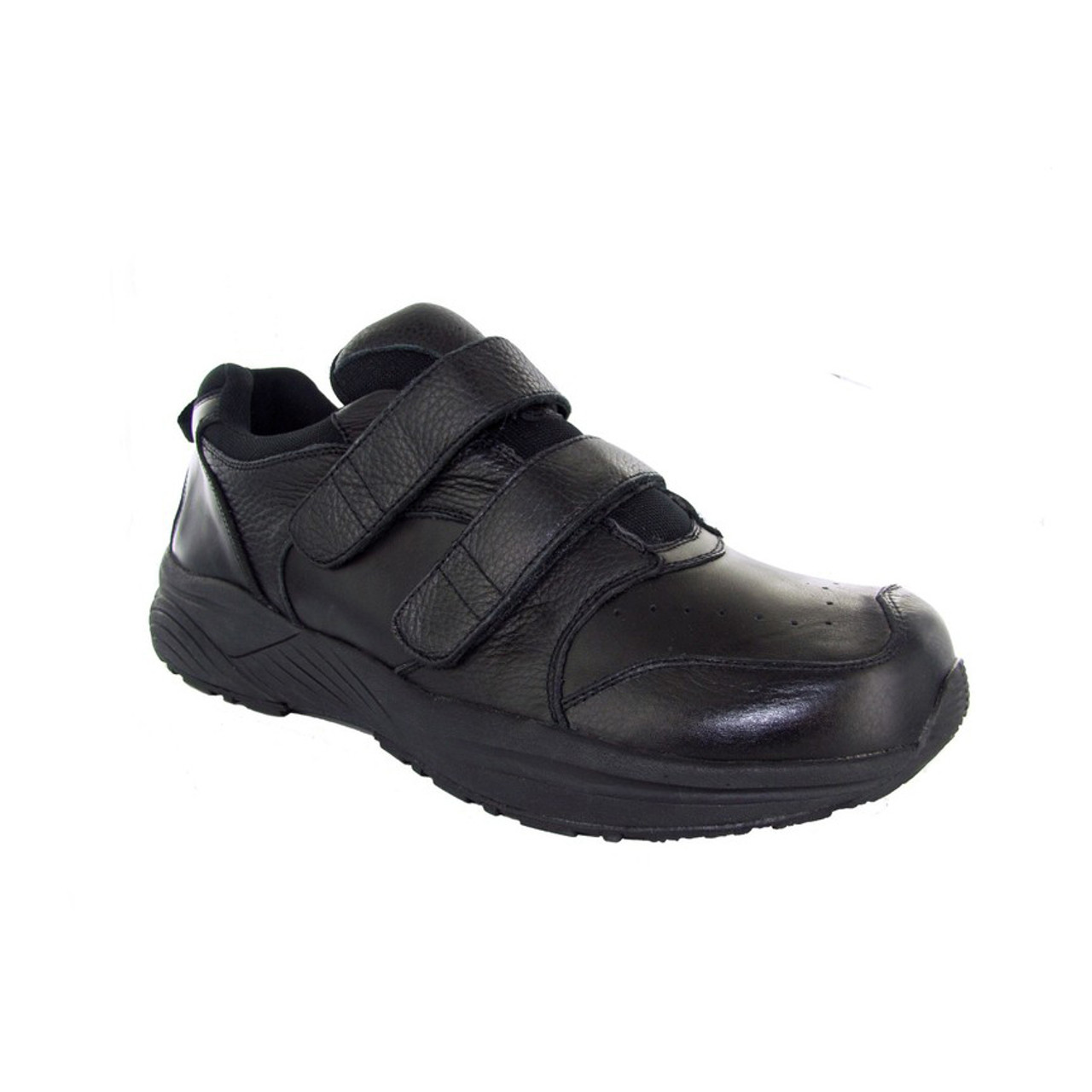 cdde40badc Black Athletic Orthopedic Shoes With Velcro Straps For Men