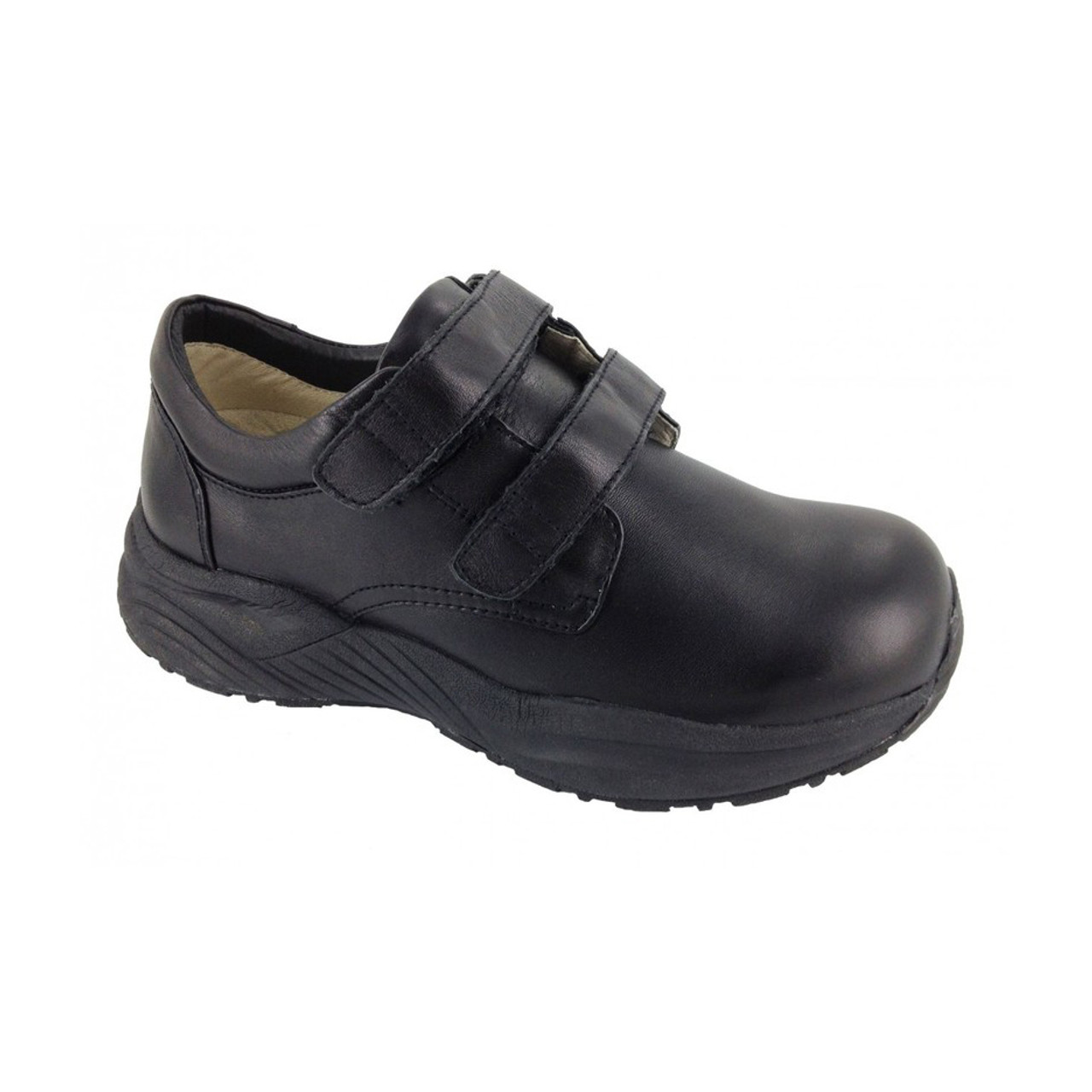 7d169bf551 Black Touch Closure Orthopedic Shoes For Work For Women