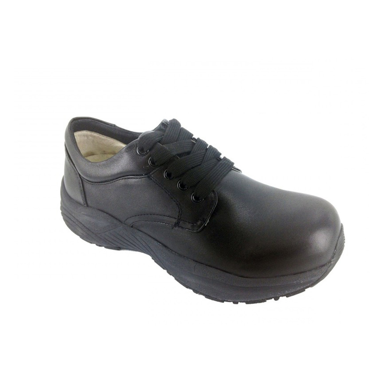 4b34b1f217 Black Lace Up Orthopedic Shoes For Work For Men