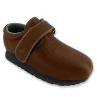 Pedors Classic Brown Orthopedic Shoes For Swollen Feet, Edema.