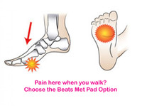 Metatarsalgia presents pain in the ball of the foot = Beats Forefoot Option Metatarsal Pad