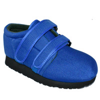 Pedors Classic MAX Stretch Shoes For Swollen Feet BLUE (MX602) - Profile View