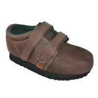 Pedors Classic MAX Stretch Shoes For Swollen Feet BROWN (MX605) - Profile View