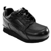 Pedors Stretch Walker MAX LACE-UP Stretch Shoes For Swollen Feet Black (MX900) Profile View