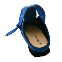 Pedors Classic MAX Slides For Lymphedema BLUE (SL602) - Rear View