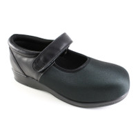 Pedors 500 Black Stretch Mary Jane Shoes For Bunions