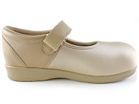 Pedors Mary Jane Beige Shoes For Edema