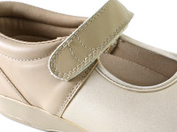 Pedors Mary Jane Beige Shoes For Extra-Wide Feet