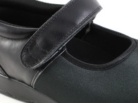 Pedors 500 Black Strech Mary Jane Shoes For Edema