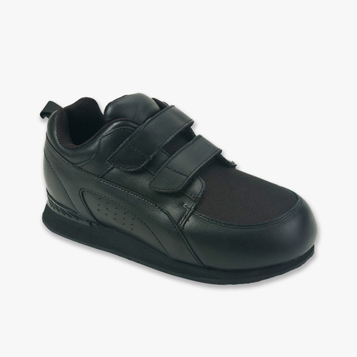 800 Stretch Walker Black Touch Closure Zapatos Diabética Y Ortopédicos