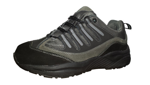 34ace9ae8c Men's Orthopedic Shoes For Hiking Black / Silver by Genext