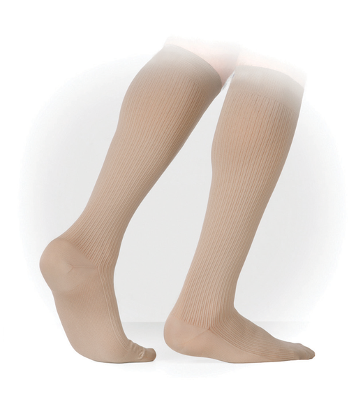 Genext Men's Business Ribbed Knee-High Stockings Compression (15-20 mmHg)