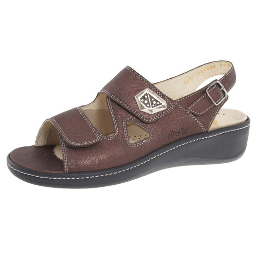 Hallux Vienna2 Bunion Sandals Brown Metallic