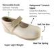 Pedors Mary Jane Beige Shoes For Swollen Feet