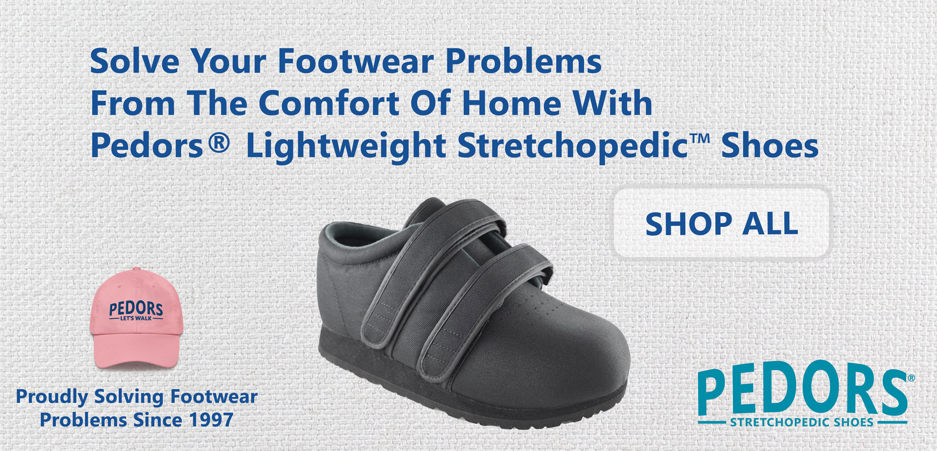 Pedors Orthopedic Stretch Shoes Solve Your Footwear Problems For People With Lymphedema Edema Arthritis Diabetes Corns Bunions Hammertoes Free Shipping & Returns