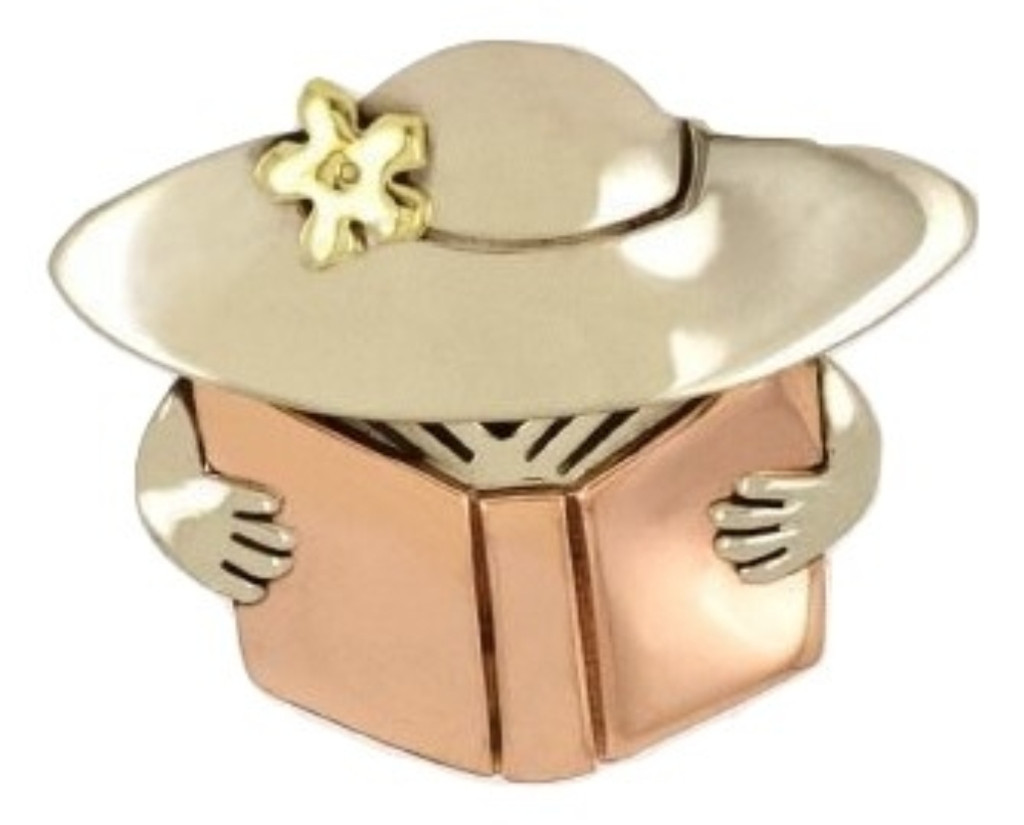Book Lady Pin