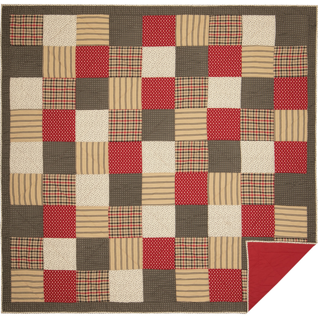 Victory Quilt showing reverse
