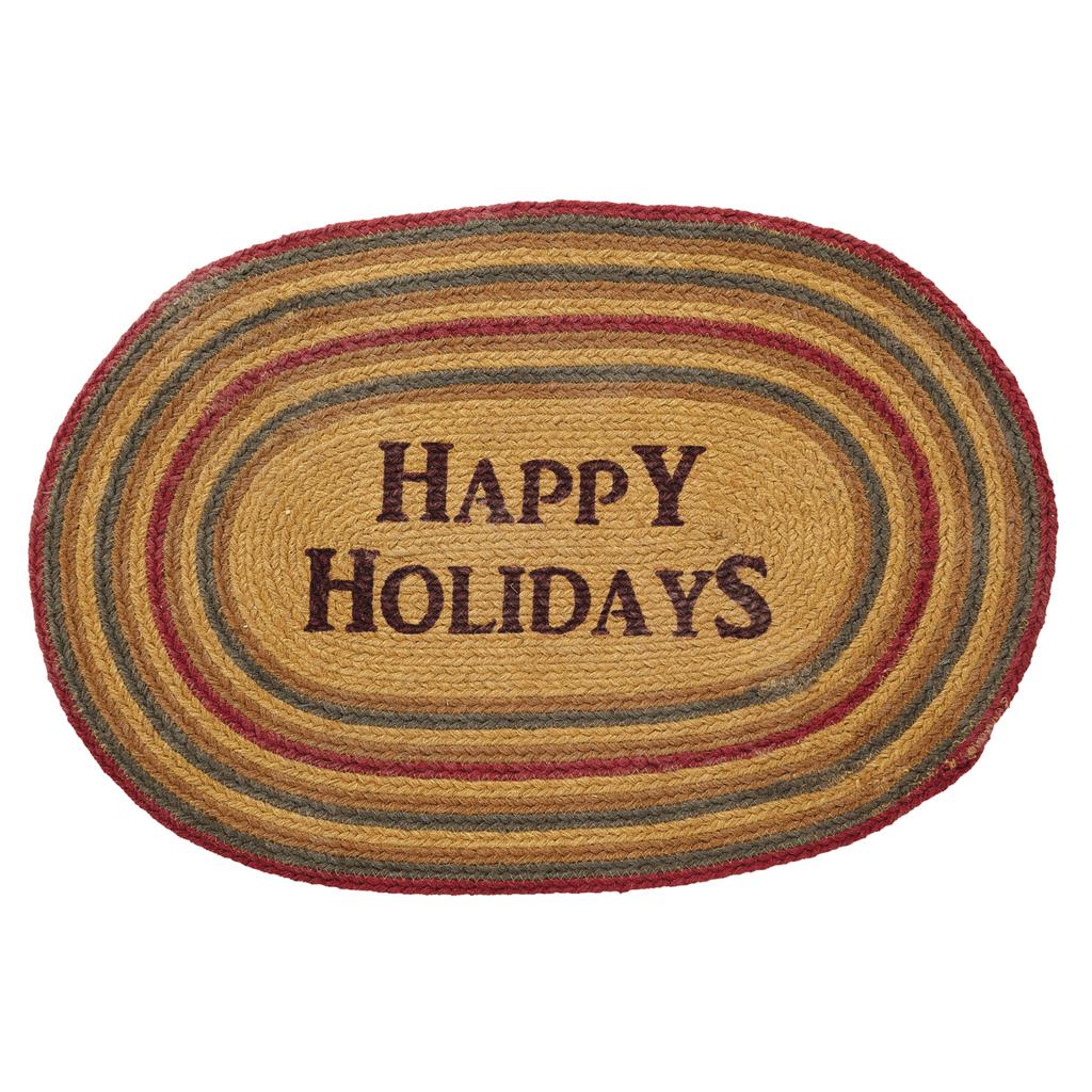 Happy Holiday Jute Rug