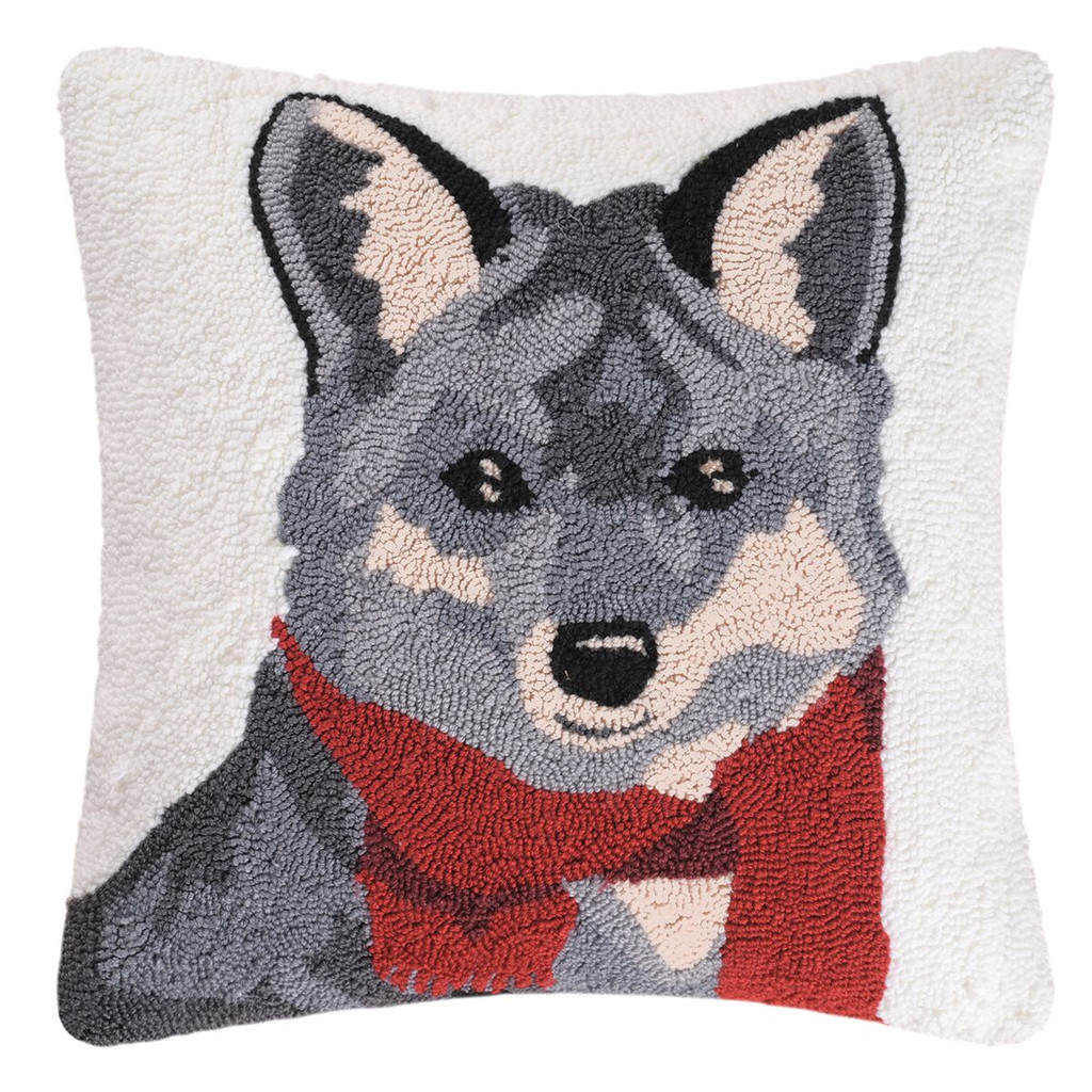 Welcome Fox Hooked Toss Pillow