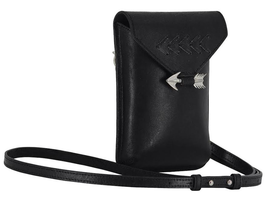 Aim for It Bag in Black Leather