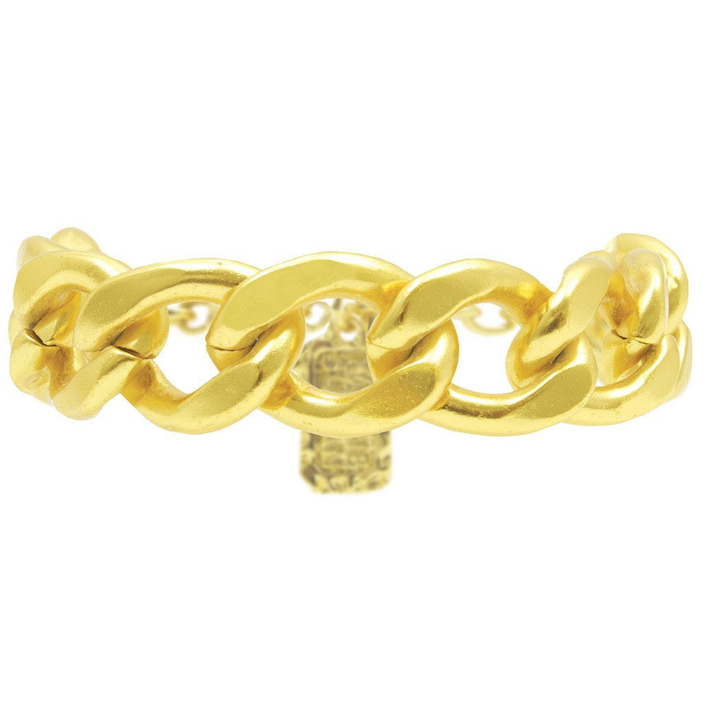 Karine Sultan Gold Curb Chain Bracelet