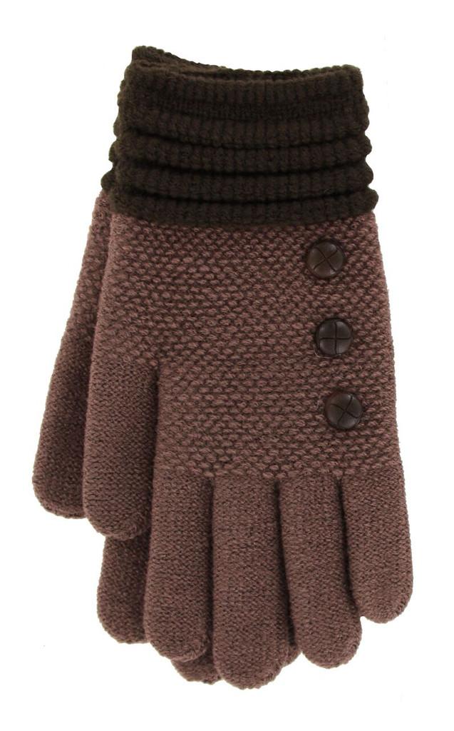 Brown with Dark Brown Cuff Glove