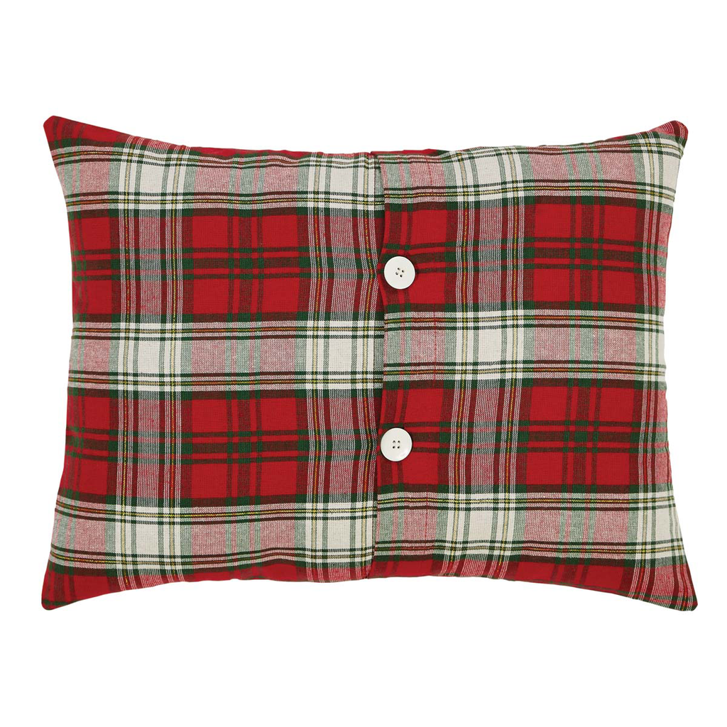 Merry Christmas Set of Two Toss Pillows Reverse