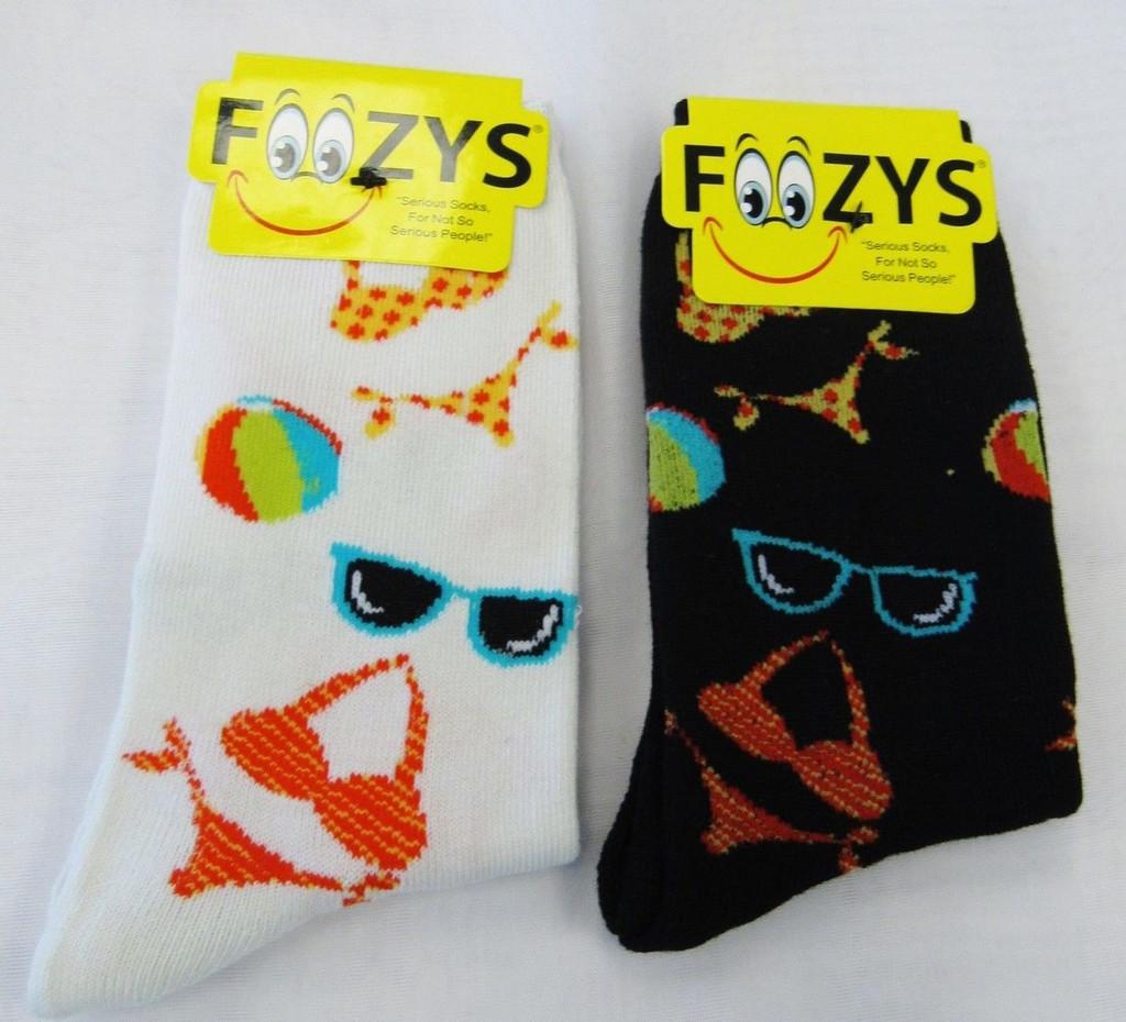 Bikinis & Sunglasses Crew Socks-Two Pairs