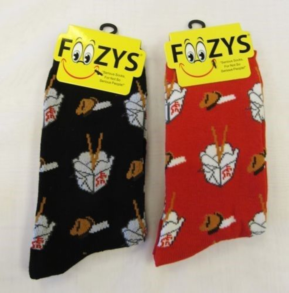 Chinese Takeout Crew Socks-Two Pairs