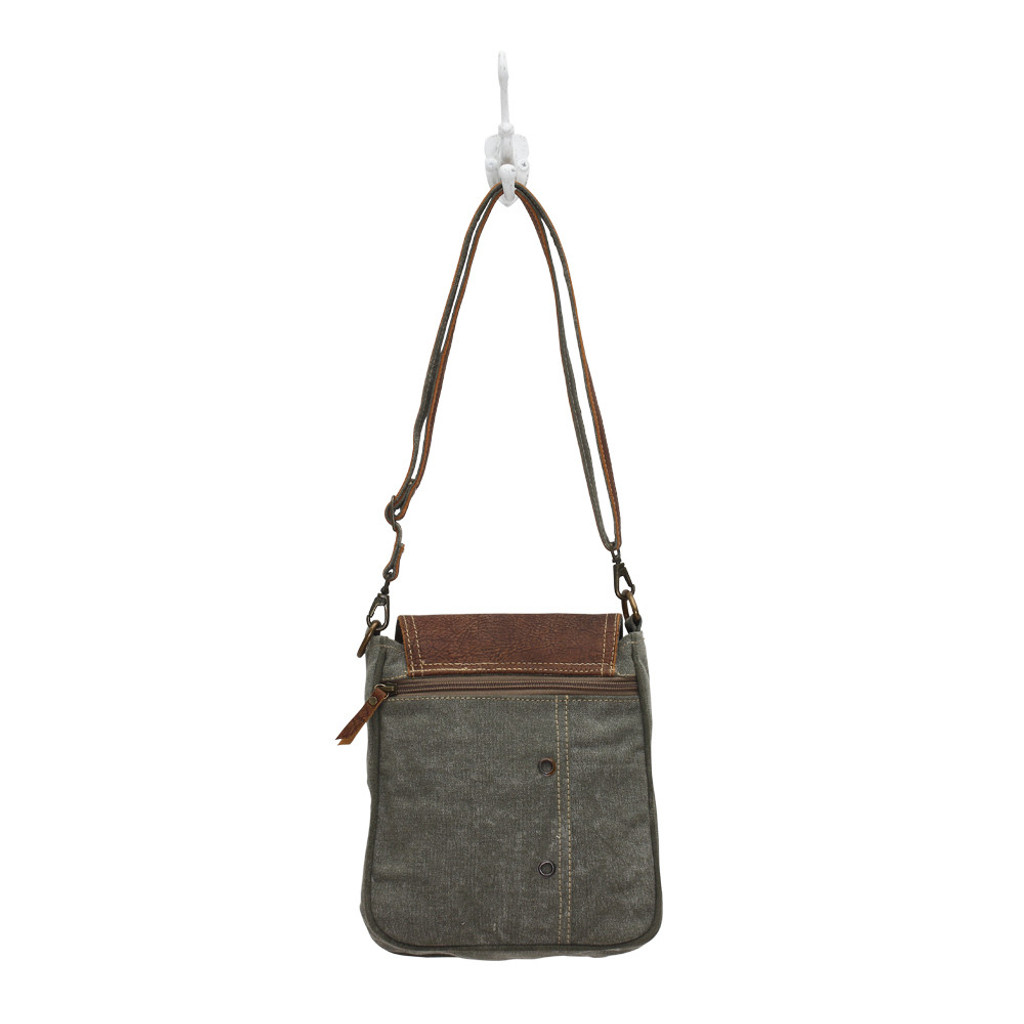 Bicycle Canvas Shoulder Bag Reversed
