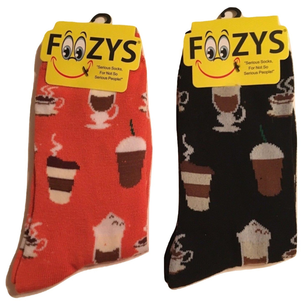 Coffee Time Ladies Crew Socks - Set of Two