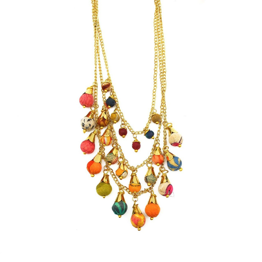 Ishya Recycled Sari Necklace