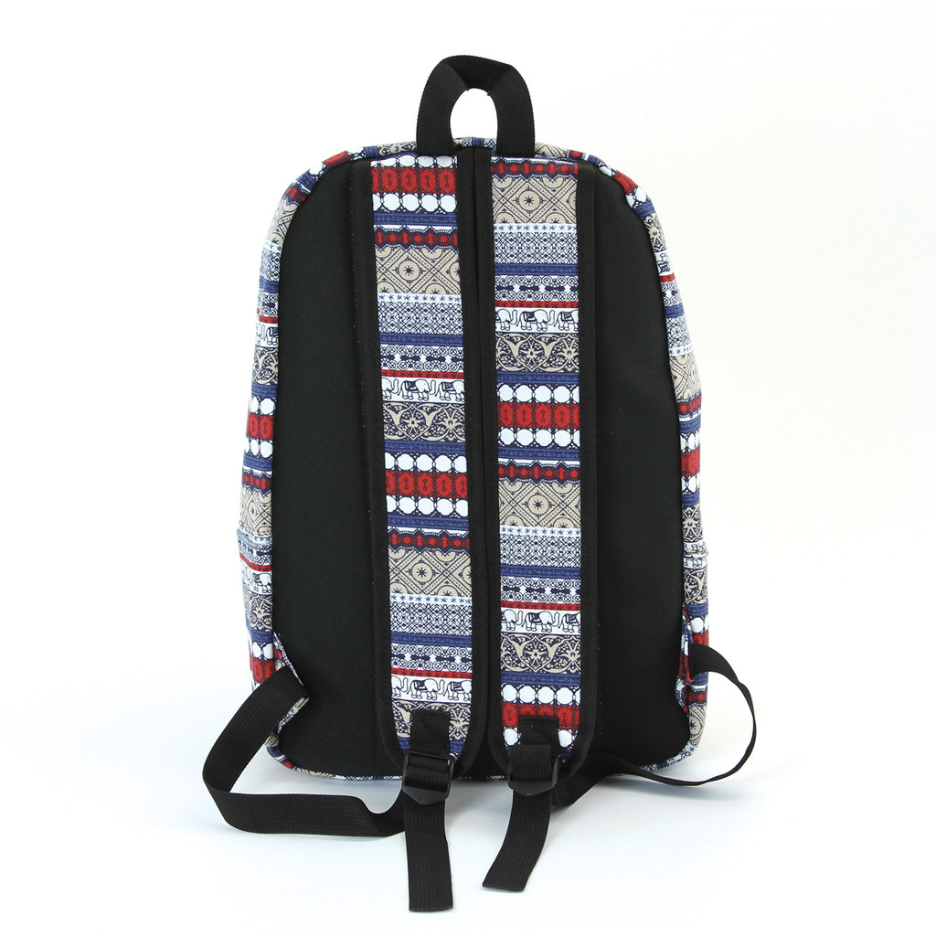 Elephant Trim Canvas Backpack Reverse