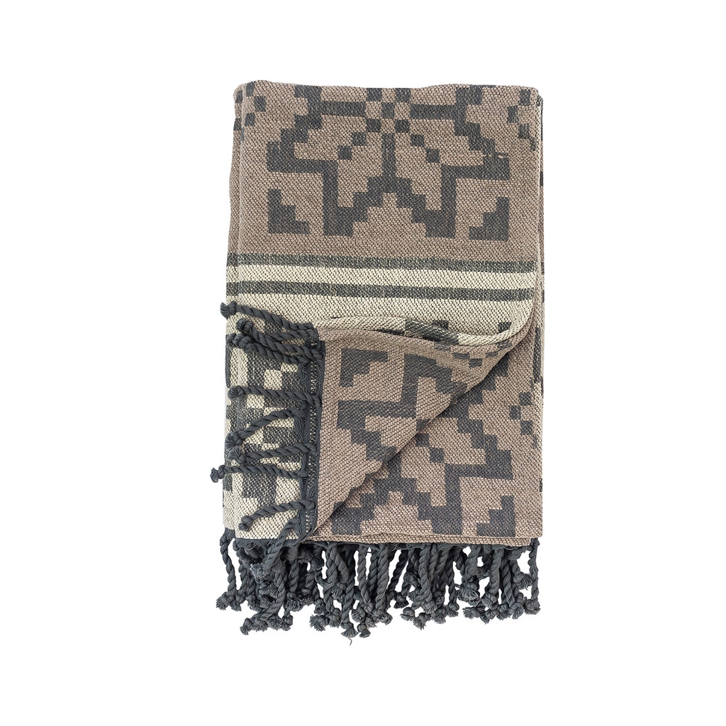 Snowflake Chenille Throw with Fringe
