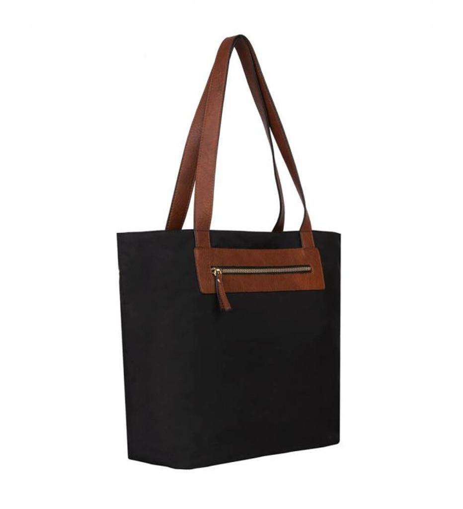 Katie 2 Pc Tote Set - Tote with Bonus Bag in Black