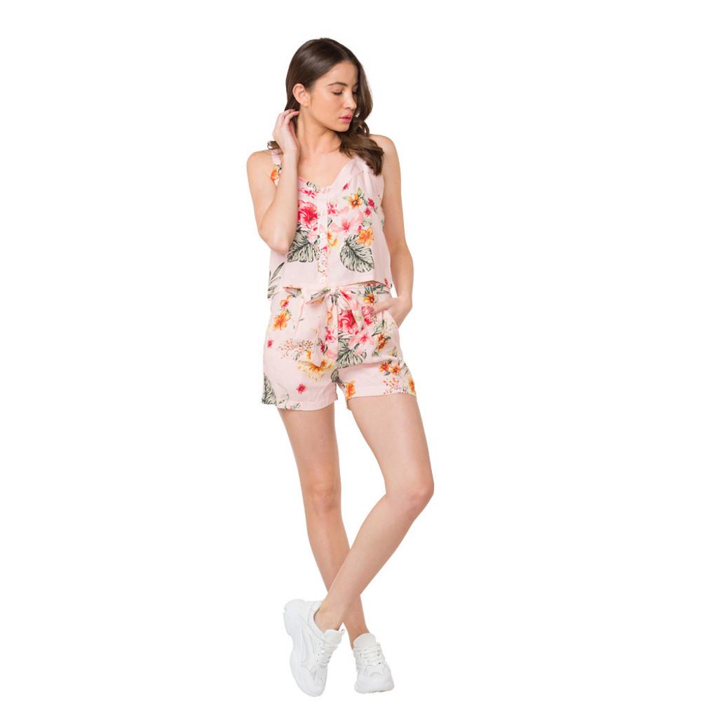 Hula Verdure Top & Shorts Set