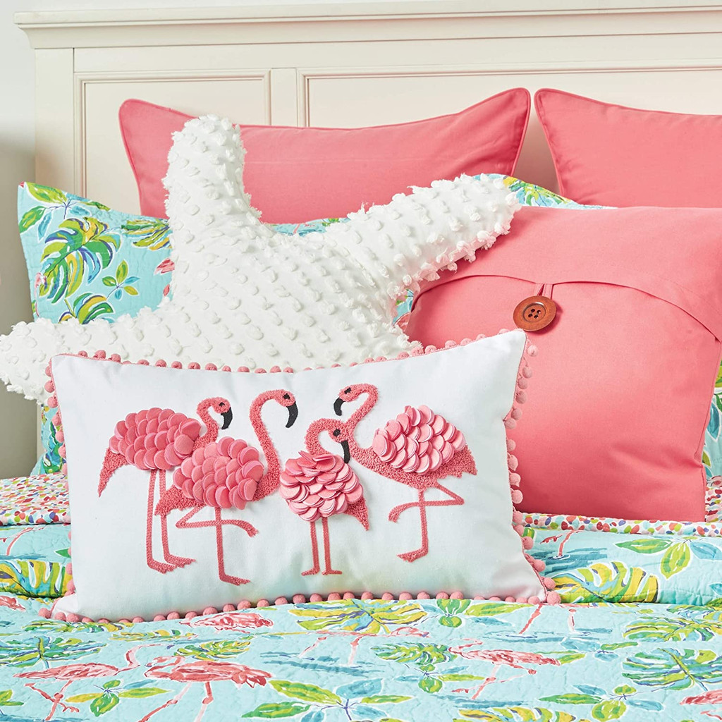 Flamingo Garden Coastal Quilt Set
