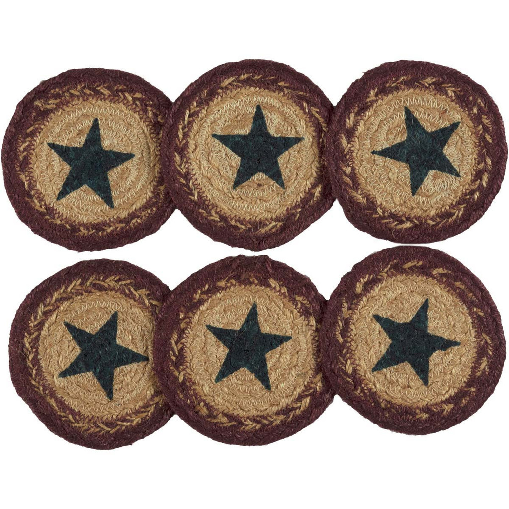 Potomac Jute Star Coasters - Set of Six