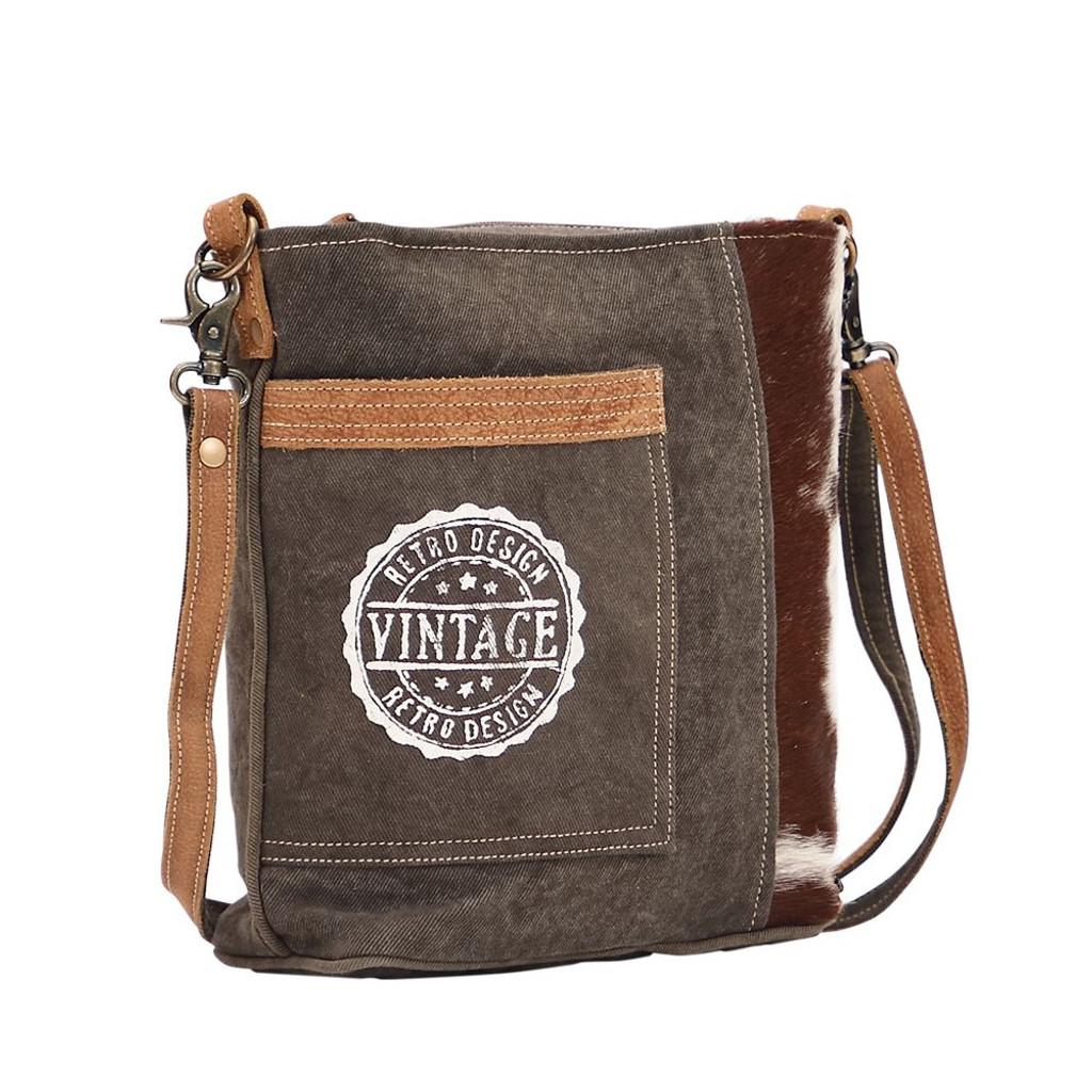 Vintage Stamp Retro Design Shoulder Bag